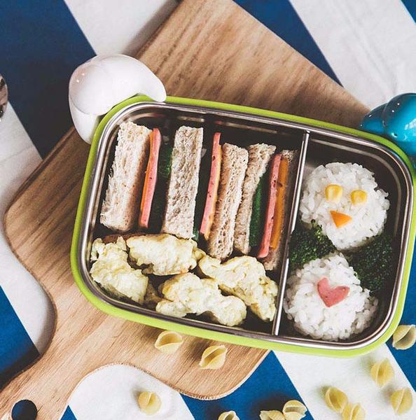 Double Insulted Large Bento Box - Green