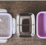 Double Insulted Small Bento Box - Purple