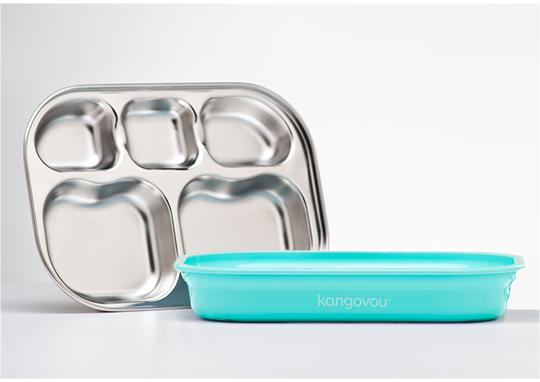 Compartment Plate - Iced Mint