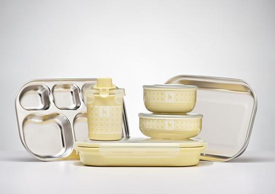 Kids Dishware Set - Lemon Zest