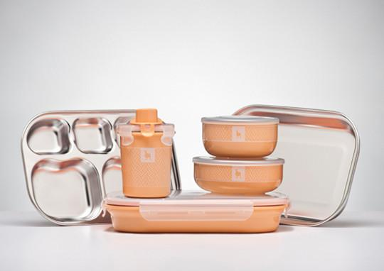 Kids Dishware Set - Peaches & Cream