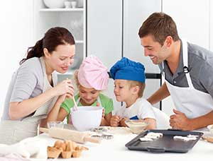 Bonding with your kids in the kitchen