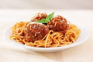 spaghetti and meatballs which is a favorite among the most popular children's lunches