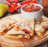 four vegetable quesadillas, which are one of the best healthy packed lunch ideas