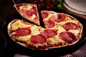 one of the best sandwich free lunches which is pepperoni tortilla pizza
