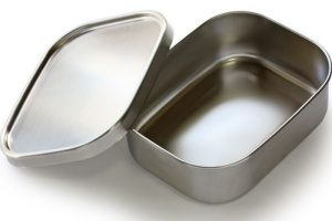 Bento lunch boxes, like the one shown here from Kangovou, are made of steel instead of potentially dangerous plastics