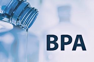 a water bottle made form BPA that is dripping water to show how BPA has a negative effect on people as well as the environment