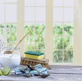 eco friendly cleaning products used in a home