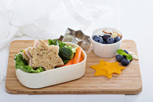 school lunch made for a child in a bento lunch box