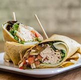 a turkey wrap that a kid will take to summer camp for lunch