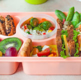 Bento Lunch Boxes filled with yummy food