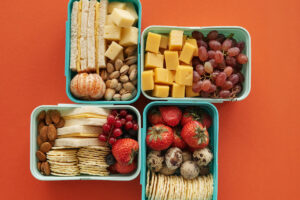 the bento lunch boxes are used for meal prepping