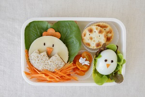 easter chick lunch box